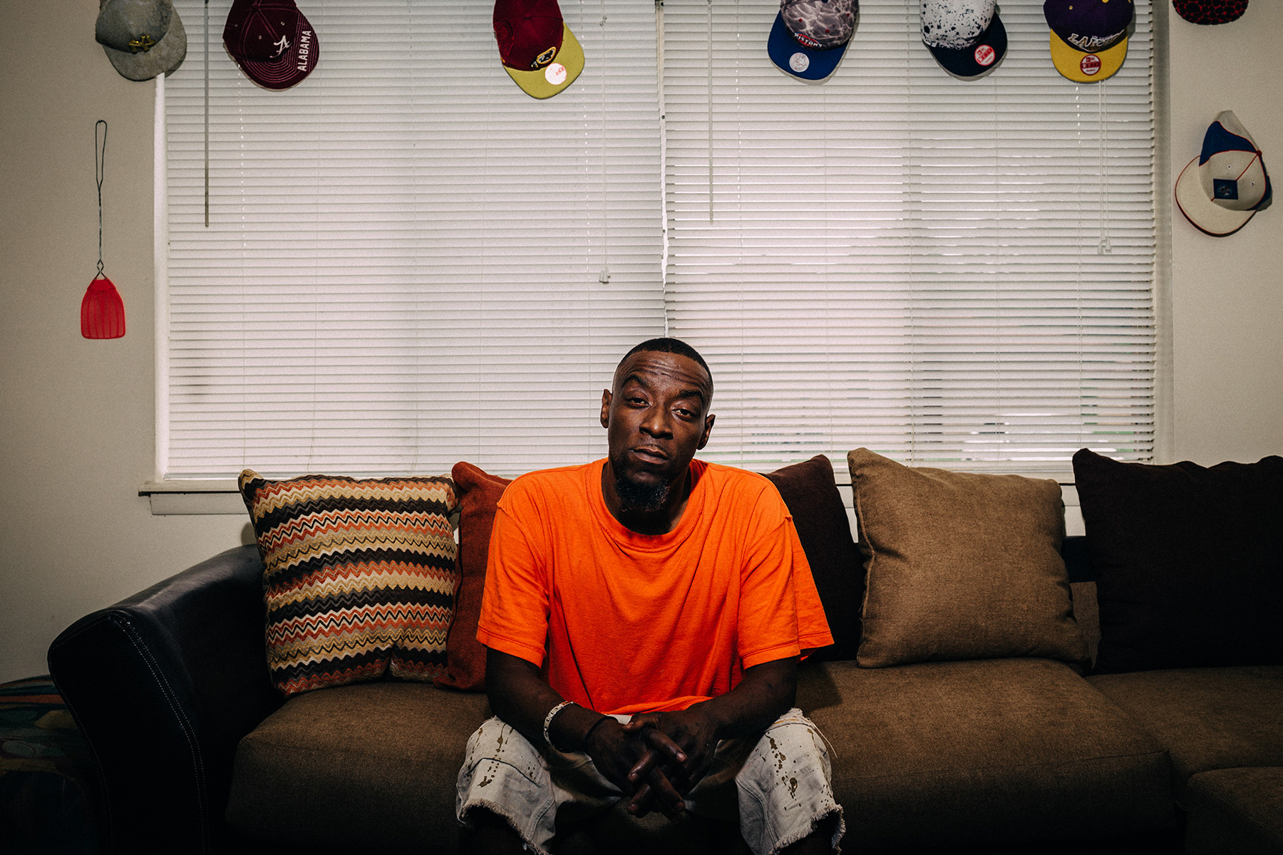 Demetrius Holmes has been living in Uniontown, Ala., for the past three years and has been hospitalized more than 20 times for stomach-related issues. He suspects the town's drinking water may be the cause. (Michael M. Santiago/News21)