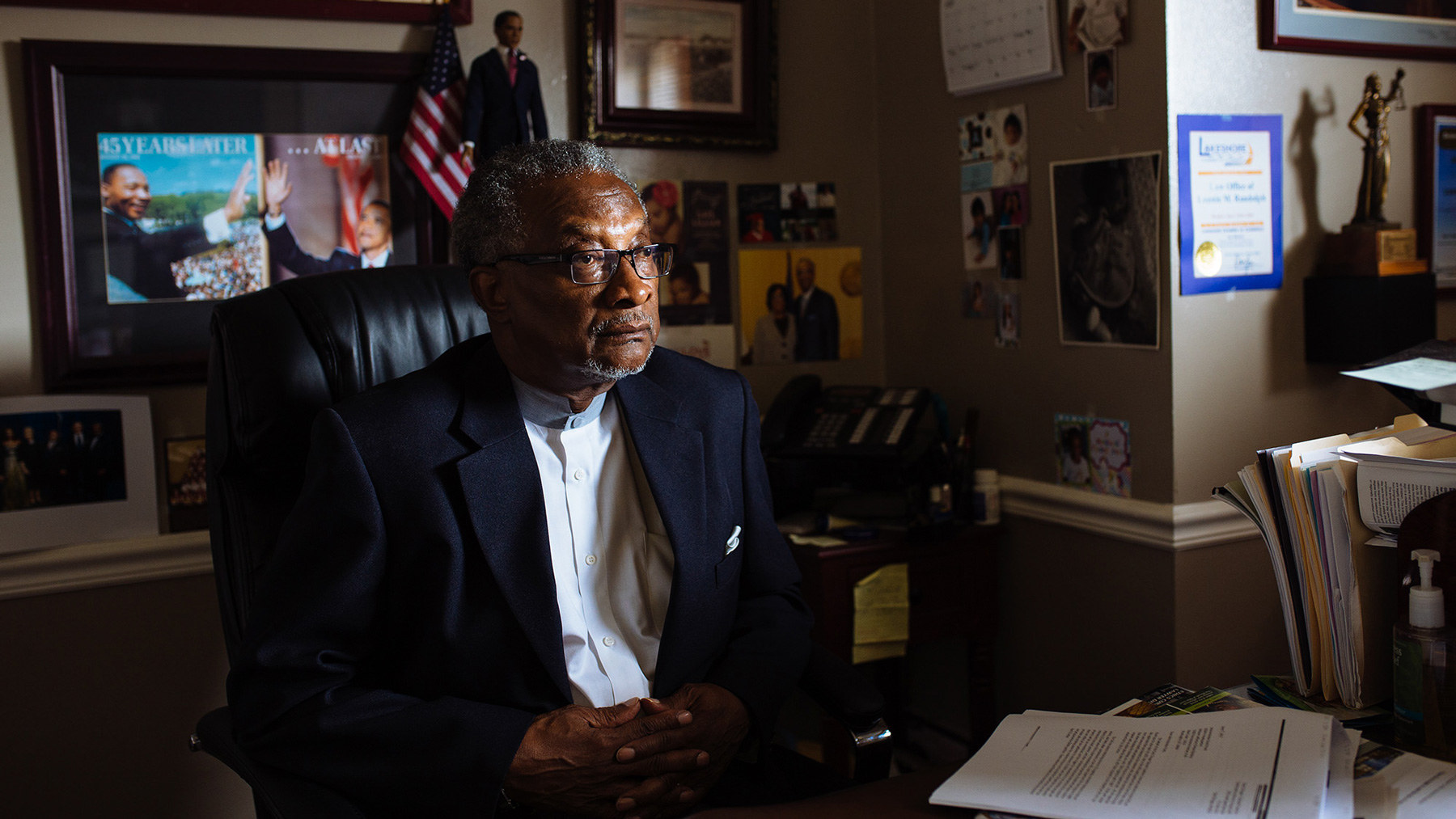 Indiana state Sen. Lonnie Randolph was born and raised in East Chicago near the USS Lead Superfund site. His ties to his community have made him a vocal advocate for his constituents. (Michael M. Santiago/News21)
