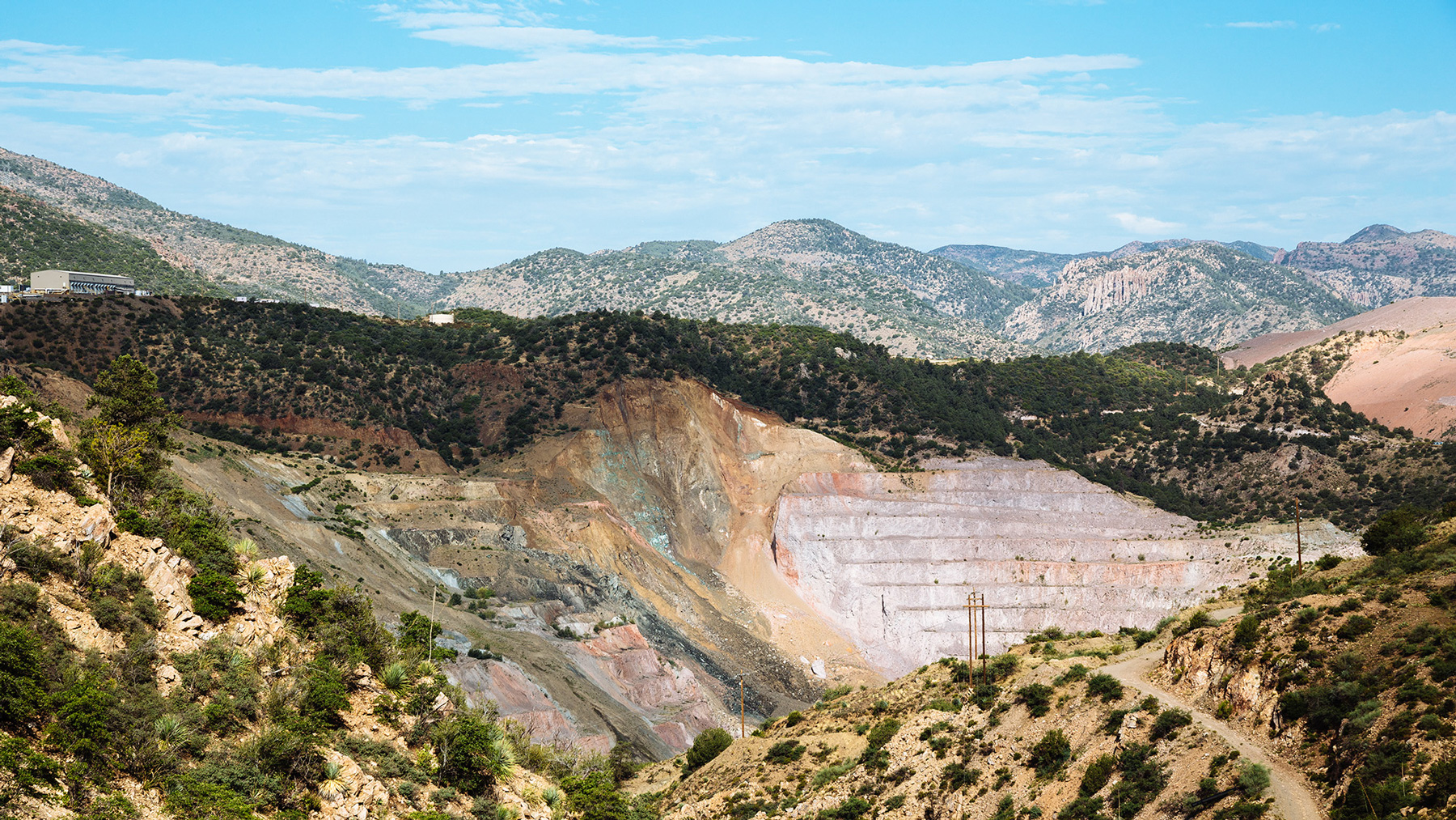 A strip-mining site operated by BHP Copper Inc. near Globe, Ariz., contaminated wells nearly 50 years ago. Mining throughout the country has been attributed to a host of environmental issues. (Michael M. Santiago/News21)