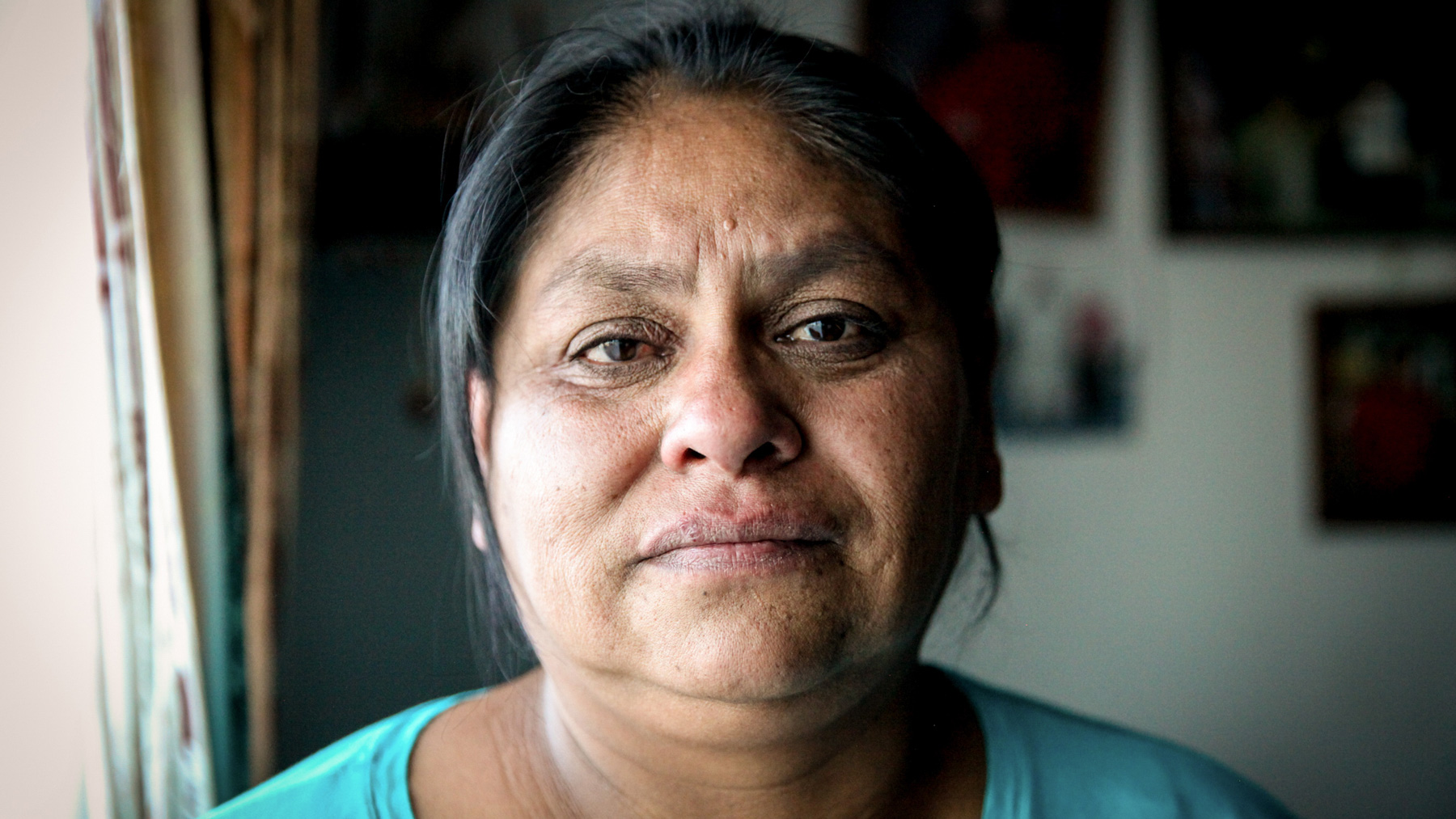 Yolanda Badback is one of the few White Mesa, Utah, residents from the Ute Mountain Ute tribe who is organizing and protesting against the White Mesa Mill. (Maria Esquinca/News21)